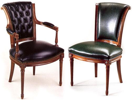 Silla y sillón de comedor, modelo CERVANTES