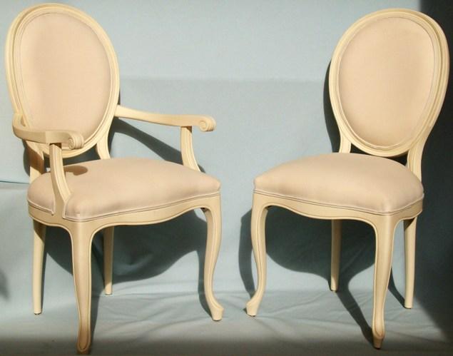 Silla y sillón de comedor, modelo Columbia